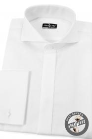 Biała bawełniana koszula w stylu smokingu