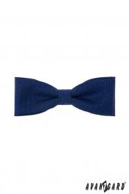 Ciemnoniebieska bawełniana męska muszka z niebieskim wzorem