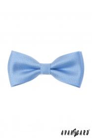 Niebieska muszka z błyszczącym wzorem + poszetka