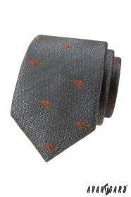 Szary krawat, wzór bażanta