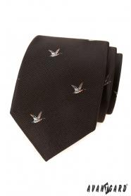 Brązowy krawat w kaczkę
