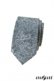 Wąski krawat we wzór paisley