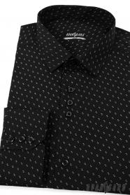 Koszula męska SLIM czarno-biały wzór