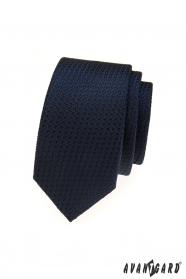 Wąski krawat w niebieskim kolorze