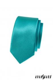 Wąski krawat w turkusowym kolorze