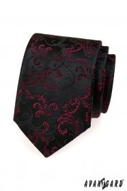 Krawat czarno-fioletowe motywy