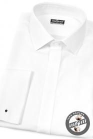Biała koszula 100% bawełna na spinki do mankietów