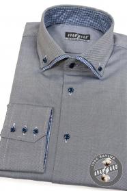 Szara bawełniana koszula męska