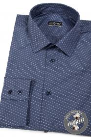 Koszula męska bawełniana ciemnoniebieski jasny wzór