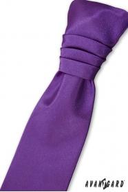 Fioletowy krawat angielski dla chłopca + poszetka