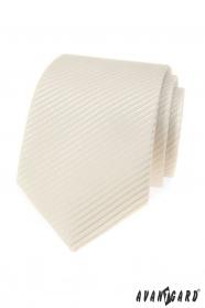 Kremowy męski krawat o wyżarzonej strukturze