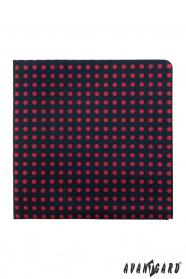 Ciemny niebieski poszetka z czerwonymi kropkami