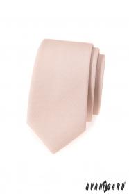 Wąski krawat męski w kolorze Ivory