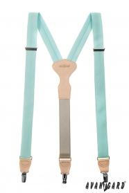 Lekkie miętowe szelki z metalowymi klipsami