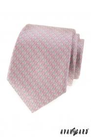 Krawat męski z różowym wzorem