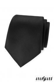Czarny, matowy krawat Avantgard