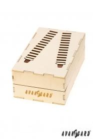Drewniane pudełko na szelki