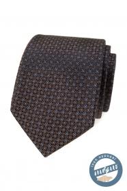 Brązowy jedwabny krawat w pudełku