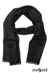 Czarny szalik męski jednokolorowy