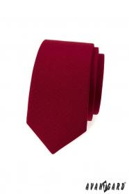 Bordowy wąski krawat