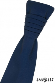 Granatowy angielski krawat