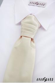 Angielski krawat chłopięcy w kremowym kolorze