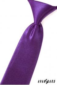 Fioletowy błyszczący krawat dla chłopca