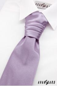 Jasnofioletowy angielski krawat dla chłopca