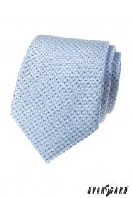 Jasnoniebieski krawat w kropki