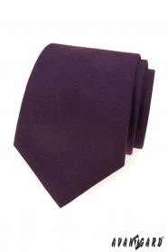 Ciemnofioletowy matowy krawat