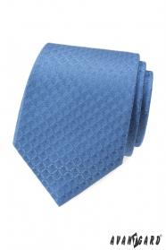 Niebieski krawat z wzorem diamentu