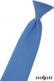 Krawat chłopięcy niebieski 31 cm