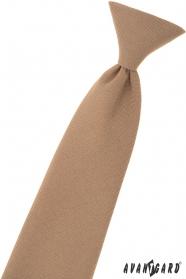 Jasnobrązowy krawat chłopięcy