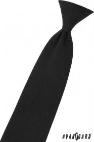 Czarny krawat chłopięcy 31 cm
