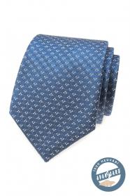 Niebieski krawat z jedwabiu we wzór