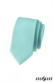 Wąski krawat w miętowej zieleni