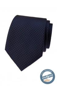 Niebieski jedwabny krawat z czerwonym w pudełku