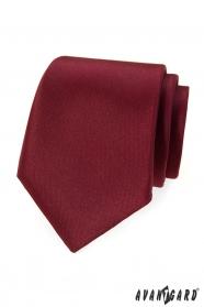Krawat męski w kolorze burgundowym