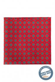 Jedwabna poszetka w czerwone wzory