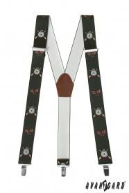 Szelki z motywem myśliwskim 3,5 cm