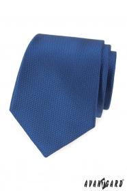 Granatowy męski krawat