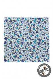 Bawełniana poszetka w niebieskie kwiaty