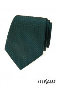 Zielony, wzorzysty krawat Avantgard