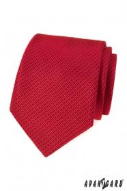 Czerwony krawat z delikatnym wzorem przecinków