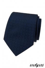 Niebieski krawat o kwadratowej strukturze