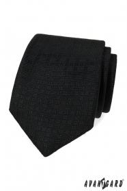 Czarny krawat ze wzorem
