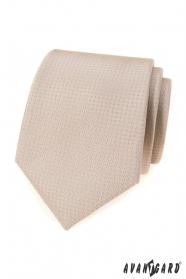 Beżowy krawat w kropki