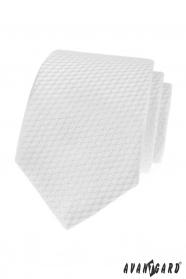 Biały krawat w paski