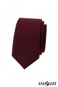 Slim krawat w kolorze bordowym