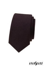 Ciemnobrązowy luksusowy krawat wąski